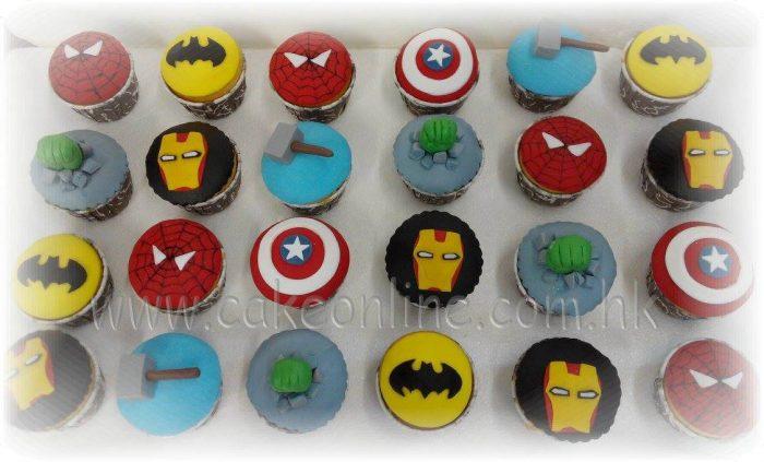 Avengers cupcakes 超級英雄立體杯子蛋糕
