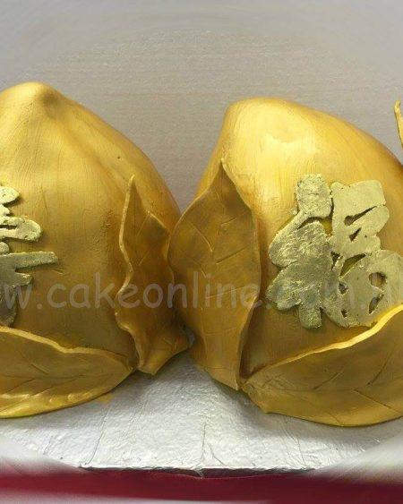 Golden Peaches cake 金壽桃大壽蛋糕