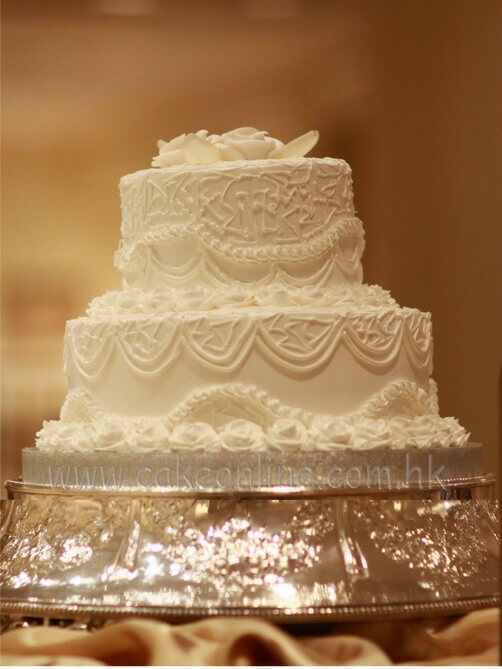 2 Layers Wedding Cream Cake 忌廉結婚蛋糕